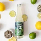 Drinks, Buchi Organic Kefir Soda (Lemon Lime Echinacea) 12oz