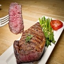 Rib Eye Steak Grass Fed Beef 8 oz
